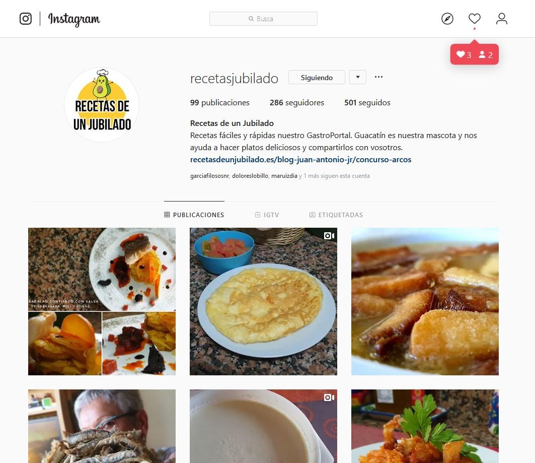 Recetas de un Jubilado instagram